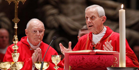 Then-Cardinal Theodore McCarrick and Cardinal Donald Wuerl in 2010-CNS-PaulHaring