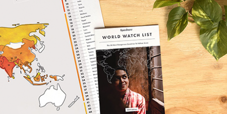 The World Watch List reports persecution of Christians worldwide increased for the sixth straight year (Open Doors)