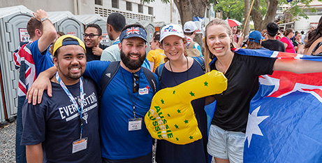 Australian pilgrims at World Youth Day in Panama (Parramatta Diocese/Adrian Middeldorp)
