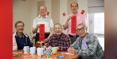 Members of the seniors group at the multicultural wellness centre in Melbourne (VMCH)