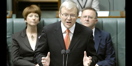 Kevin Rudd says sorry to the Stolen Generation in 2008 (SBS News)
