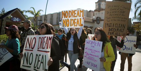 A rally in support of Dreamers in California last month (CNS)