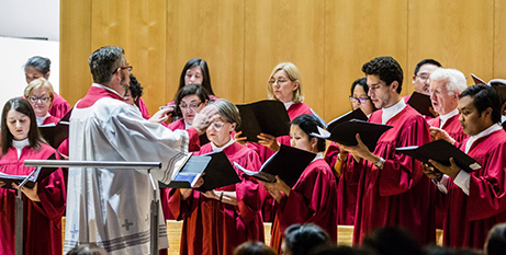 The St Patrick's Cathedral Choir during the Easter Vigil at the Parramatta cathedral (Diocese of Parramatta/Alphonsus Fok)