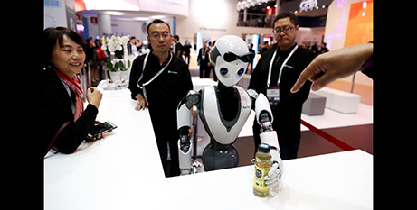 """Pope Francis said increased automation, sophisticated robotics and artificial intelligence could become """"socially dangerous"""" (CNS/Rafael Marchante/Reuters)"""