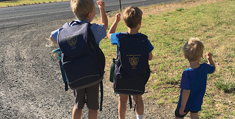 The Manninen brothers have been denied access to the school bus service (The Southern Cross)
