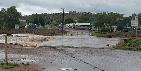 Flooding of the Leichhardt River at Mt Isa (Kimberly Mealing)