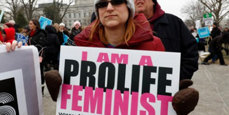 Pro-life feminism sign (CNS)