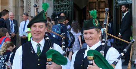 Pipers at St Patrick