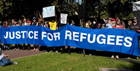 Palm Sunday march for refugees (CAPSA)