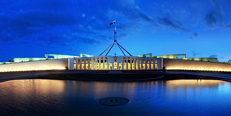Federal Parliament recites the Our Father before each sitting (Wikimedia)