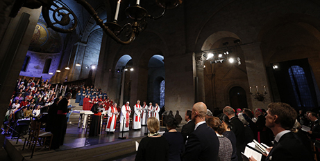 Pope Francis at an ecumenical prayer service at the Lutheran Lund cathedral, 2016 (CNS)