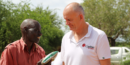 Paul O'Callaghan visits a drought-hit community in Kenya (Caritas/Mohamed Sheikh Nor)
