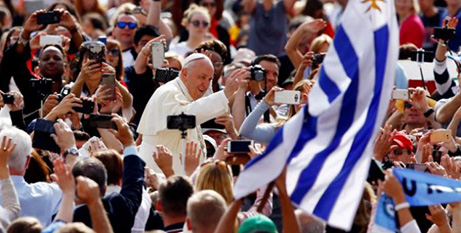 Pope Francis arrives at St Peter's Square yesterday (CNS/Stefano Rellandini, Reuters)