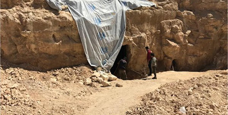 The site of the ruins in northern Syria (Twitter/Fox News)