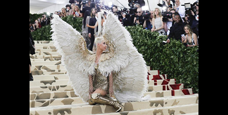 Singer Katy Perry at the Met Gala yesterday (CNS/Carlo Allegri, Reuters)