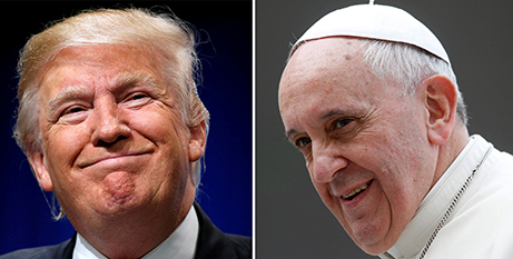 Donald Trump and Pope Francis (CNS/Reuters)