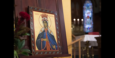 The icon of St Dimpna by Michael Galovic (The Catholic Weekly/Giovanni Portelli)