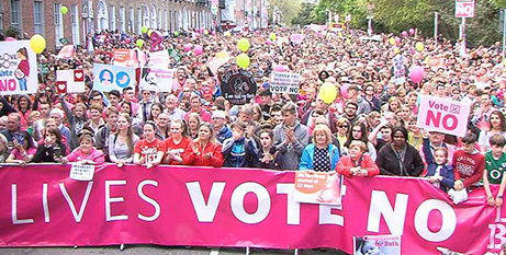 The Stand Up for Life rally in Dublin on Saturday (CNA/EWTN)