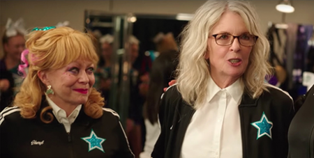 Jacki Weaver, left, and Diane Keaton star in Poms (Supplied)