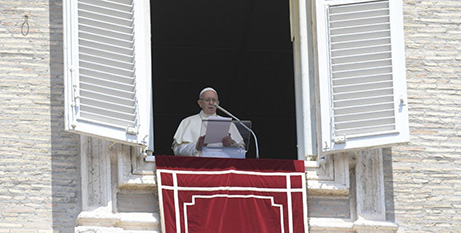 Pope Francis announces the 14 new cardinals yesterday (Vatican Media)