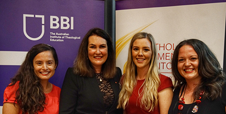 Christine Pace, Deborah O'Neill, Sally Hood and Vicki Burrows at the launch (ACBC)