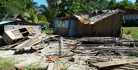 Houses destroyed in the earthquake (Salesian Missions)