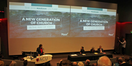Centre stage at the 2018 Marian Lecture in Melbourne (MelbourneCatholic)