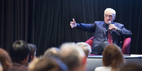 Martin Scorsese at the conference (CNS/Chez Muth)