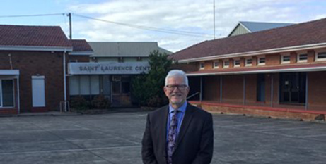 Gerard Mowbray at the site of the future St Laurence Flexible Learning Centre (MNnews.today)