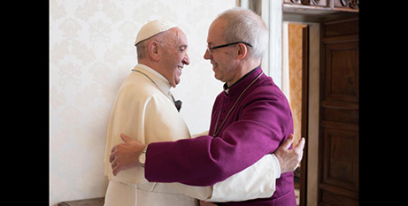 Pope Francis and Anglican Archbishop Justin Welby in 2017 (CNS/L'Osservatore Romano)