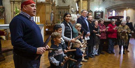 The annual Aboriginal and Torres Strait Islander Mass at St Francis Xavier's Cathedral, Adelaide, July 7 (The Southern Cross/Ben Macmahon)