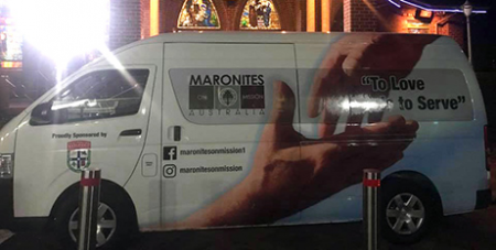 The food van makes weekly runs across Sydney (Facebook/Maronites on Mission)