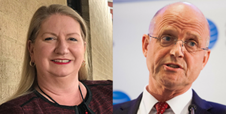 Suzanne Greenwood and David Leyonhjelm (CHA/Facebook, Senator David Leyonhjelm)