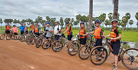 Last year's Cambodian Ride to Reach Out participants (Inspired Adventures)