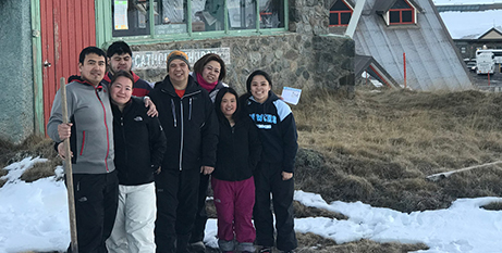 Mass attendees at Our Lady of the Snow, Perisher Valley (Catholic Voice)