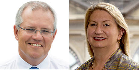 Scott Morrison and Suzanne Greenwood (Liberal Party and CHA)