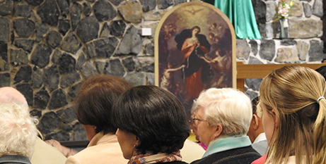 A painting of Mary, Undoer of Knots was displayed at the liturgy (Broken Bay Diocese)