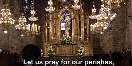 Screenshot of the September prayer intentions video (The Pope Video)