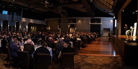 Conference delegates listen to Fr Hans Zollner at the Campbelltown Catholic Club (Parramatta Diocese)