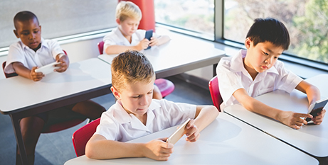 The NSW Government's review will look at the benefits and risks of phones in classrooms (Bigstock)