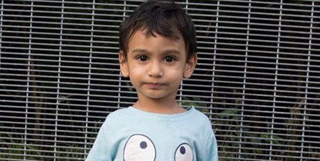 George, 2, is one of faces of the Kids Off Nauru campaign (World Vision Australia)