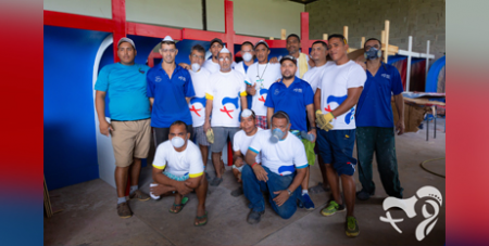 Some of the prisoners who have built the confessionals for WYD 2019 (WYD Panama)