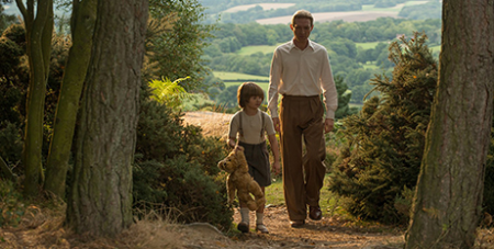 Domhnall Gleeson and Will Tilston in Goodbye Christopher Robin (20th Century Fox/David Appleby)