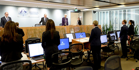 The royal commission in session (Child abuse royal commission website)