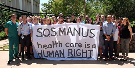 Health professionals in Darwin last month call for action for refugees  (Twitter/Kon_K)