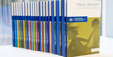 The 17-volume final report was released Friday (Commonwealth of Australia)