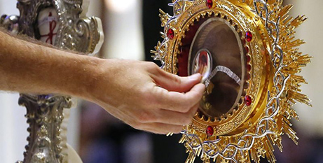 The relics of Padre Pio at St Francis Borgia Church, Chicago (CNS)