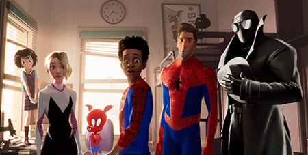 The latest Spider-Man film introduces new Spider characters from alternate realities (IMDB/Sony Pictures)