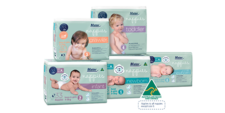 Proceeds from Mater Nappies help support specialised care for babies with complicated medical conditions (Mater Baby Products)