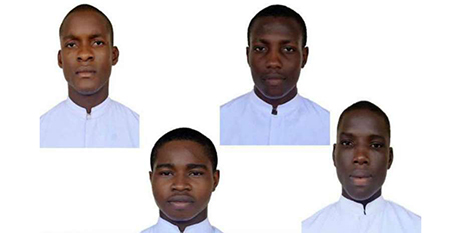 The seminarians abducted from Nigeria's Good Shepherd Major Seminary (Supplied)